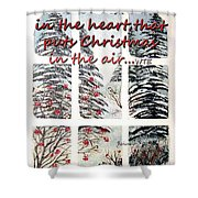 Christmas In The Heart Shower Curtain