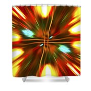 Christmas Light Abstract Shower Curtain