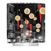 Christmas Lights In Alicante Shower Curtain
