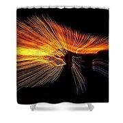 Christmas Lights Wave Shower Curtain