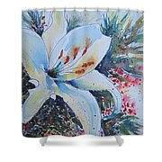 Christmas Lily Shower Curtain