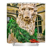 Christmas Lion At Biltmore Shower Curtain