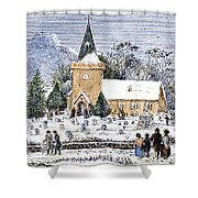 Christmas Morning, 1837 Shower Curtain