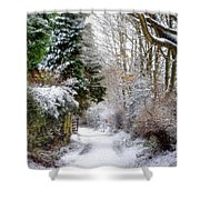 Christmas On The Chase Shower Curtain