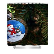 Christmas Ornament Shower Curtain