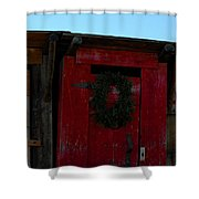 Christmas Out Houses For Sale Shower Curtain