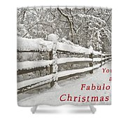 Christmas Path Shower Curtain