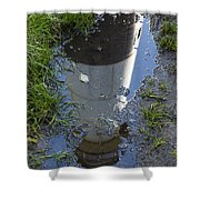Christmas Range Light Reflection 1 Shower Curtain
