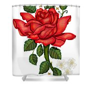 Christmas Rose 2011 Shower Curtain