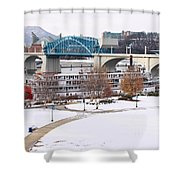 Christmas Snow Shower Curtain by Tom and Pat Cory