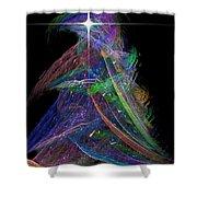 Christmas Tree 49b Star Shower Curtain
