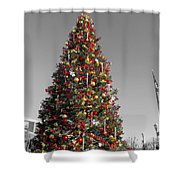 Christmas Tree At Pier 39 Shower Curtain