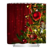 Christmas Tree Detail Shower Curtain