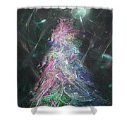 Christmas Tree Moon Shower Curtain