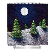 Christmas Trees II Shower Curtain