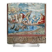Christ:miraculous Draught Shower Curtain
