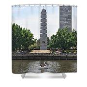Christopher Columbus Memorial - Philadelphia Shower Curtain