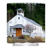 Christs Church At Elbe Washington Shower Curtain