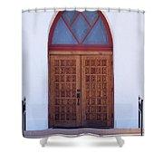 Christ's Red Door Shower Curtain