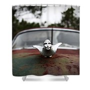 Chrome Angel Shower Curtain