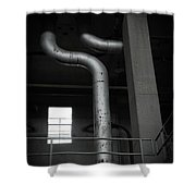 Chrome Shower Curtain