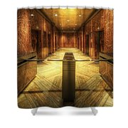 Chrysler Building Elevator Lobby Shower Curtain
