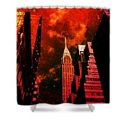 Chrysler Building - New York City Surreal Shower Curtain