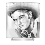 Chuck Conners-rifleman Shower Curtain