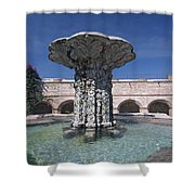 Church And Convent Garden Shower Curtain