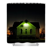 Church At Sunset Shower Curtain