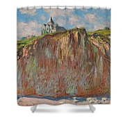 Church At Varengeville Morning Effect Shower Curtain