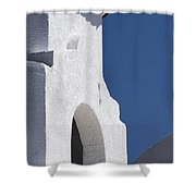 Church Bell Tower Chacras De Coria Shower Curtain by Philippe Widling