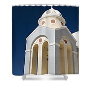 Church Bell Tower Shower Curtain