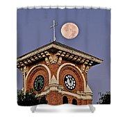 Church Bell Tower Shower Curtain
