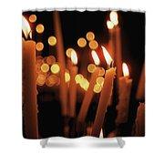 Church Candles Shower Curtain
