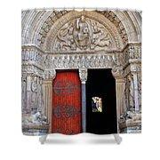 Church Entrance Arles France Shower Curtain