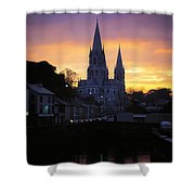 Church In A Town, Ireland Shower Curtain