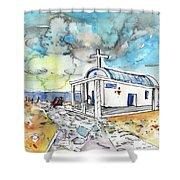 Church In Cape Gkreko In Cyprus Shower Curtain