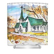 Church In Friars Point Mississippi Shower Curtain