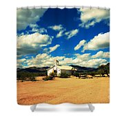 Church In Old Tuscon Arizona Shower Curtain