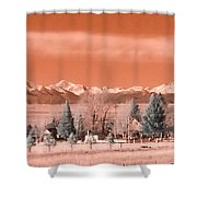 Church In The Mountains Shower Curtain