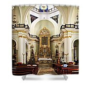 Church Interior In Puerto Vallarta Shower Curtain