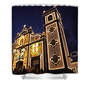 Church Lighting At Night Shower Curtain