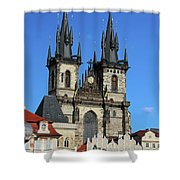Church Of Our Lady Before Tyn Shower Curtain