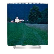 Church Of The Annunciation At Dusk Shower Curtain
