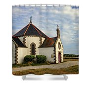 Church Off The Brittany Coast Shower Curtain