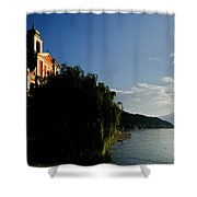 Church On The Lake Front Shower Curtain