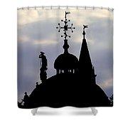 Church Spires Silhouettes Shower Curtain