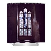 Church Stained Glass Window 2 Shower Curtain