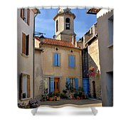 Church Steeple In Provence Shower Curtain